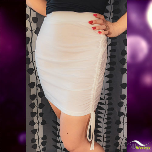 NU Lifestyle - White Drawstring Skirt